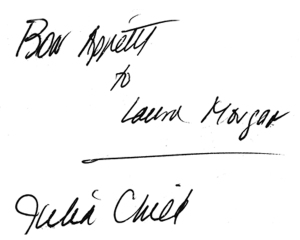 Julie Child autograph